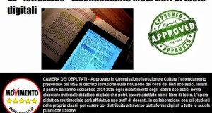 GRAZIE A EMENDAMENTO M5S IL BUONO SCONTO DEL 19% SARA' ESTESO AI LIBRI DIGITALI