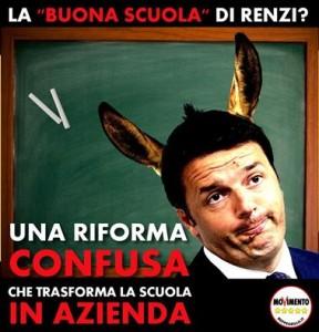 Renzi vuole trasformare la Scuola in Azienda