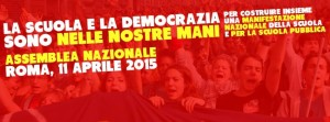 Un mese insieme per salvarci dalla Scuola Mercato di Renzi