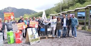Abbiamo donato un'isola ecologica al Parco del Vesuvio