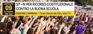 In Regione Campania un sit-in per un ricorso costituzionale contro la Buona Scuola