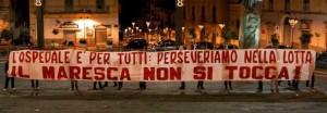 Maresca, i cittadini chiedono un presidio sanitario attivo… il Pd risponde con polizia e repressione
