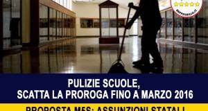 CHIEDIAMO ASSUNZIONI STATALI PER I LAVORATORI DELLE DITTE DI PULIZIA