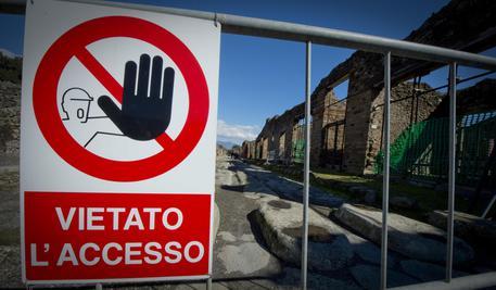 Uno scorcio degli scavi di Pompei (Napoli), in un'immagine del 3 marzo 2014. ANSA / CIRO FUSCO