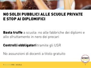 LA NOSTRA PROPOSTA DI LEGGE CONTRO I FINANZIAMENTI ALLE SCUOLE PRIVATE