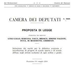 NUCLEI PER LA DIDATTICA AVANZATA, SCUOLA APERTA E DIFFUSA SECONDO IL M5S