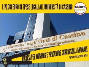 EX ASSESSORE DI TORRE DEL GRECO GESTISCE L'UNIVERSITA' DI CASSINO E SCOPPIANO I RICORSI