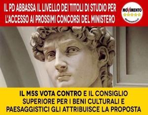 PD ABBASSA IL LIVELLO DEI TITOLI DI STUDIO: MIBACT ATTACCA M5S ED E' COSTRETTO A SCUSARSI!