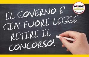 QUESTO GOVERNO E' GIA' FUORI LEGGE, RITIRI SUBITO IL CONCORSO!