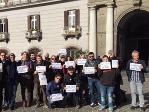 A NAPOLI LA CABINA DI REGIA SU BAGNOLI, PRESIDIO M5S CONTRO LO SBLOCCA ITALIA