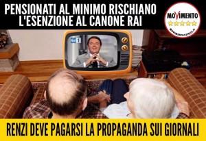 A RISCHIO L'ESENZIONE DEL CANONE RAI PER I PENSIONATI MINIMI. INFORMA I TUOI PARENTI ANZIANI!