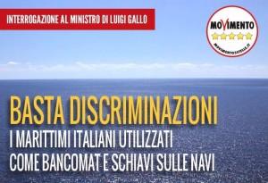 MARITTIMI ITALIANI SCHIAVI SULLE NAVI, DICIAMO BASTA ALLE DISCRIMINAZIONI!