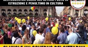 ITALIA ULTIMA PER SPESA PUBBLICA IN ISTRUZIONE, CI VUOLE UN GOVERNO DI CITTADINI!