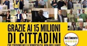 GRAZIE AI 15 MILIONI DI CITTADINI CHE CREDONO NELLA DEMOCRAZIA!