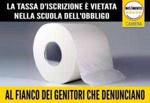 AL FIANCO DEI GENITORI CHE DENUNCIANO, NELLA SCUOLA DELL'OBBLIGO SONO VIETATE TASSE D'ISCRIZIONE!