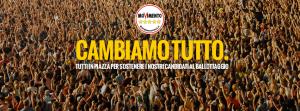 #CAMBIAMOTUTTO SAREMO IN PIAZZA PER SOSTENERE I NOSTRI CANDIDATI AL BALLOTTAGGIO!