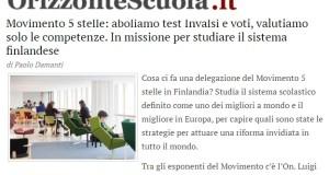 M5S IN FINLANDIA: LEGGI LA MIA INTERVISTA A ORIZZONTE SCUOLA