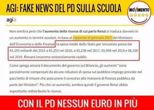 SCUOLA, TUTTE LE FAKE NEWS DEL PD