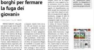 CULTURA. M5S NELL'ALTO CASERTANO: IDEA STRATEGICA DI DISTRETTO PUO' SALVARE TERRITORIO