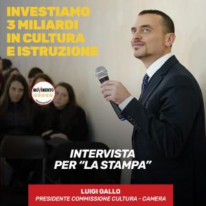 """Intervista alla Stampa. Riflessioni sul voto in Basilicata. """"Mettiamo al centro la scuola: Investiamo 3 miliardi in istruzione e cultura"""""""